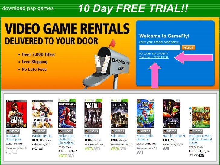 download psp games 10 Day FREE TRIAL!!