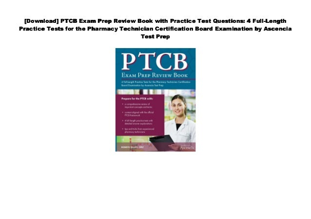 Pharmacy Technician Certification Exam Review Pdf