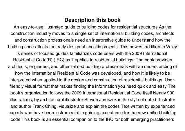 2009 IRC CODE BOOK PDF DOWNLOAD