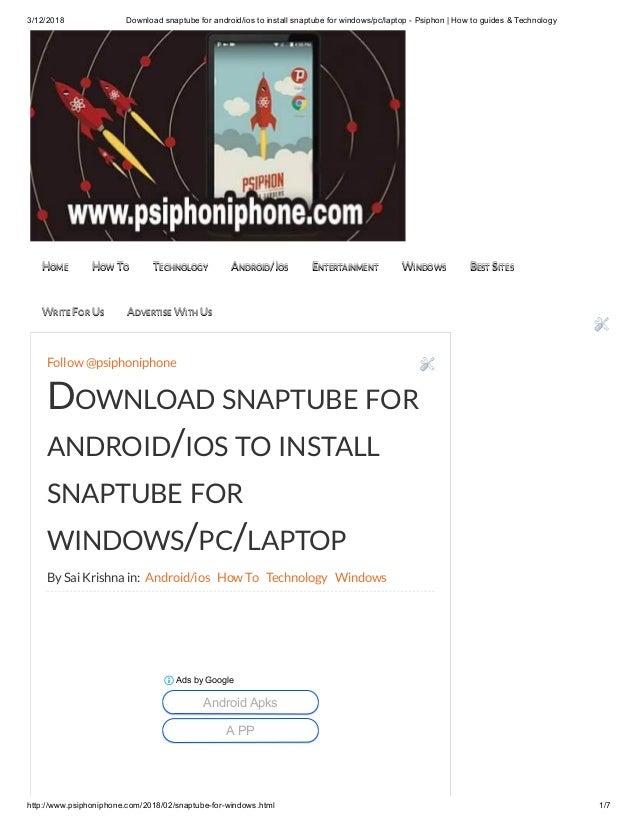 snaptube app for windows 10 pc