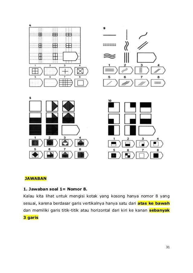 31 JAWABAN 1. Jawaban soal 1= Nomor 8. Kalau kita lihat untuk mengisi kotak yang kosong hanya nomor 8 yang sesuai, karena ...