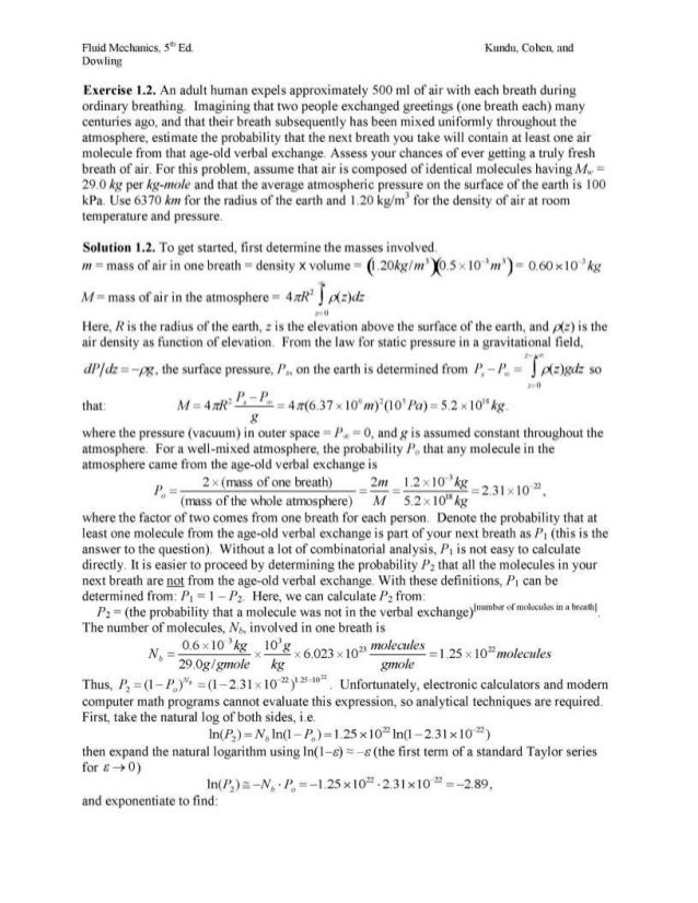 download solutions manual for fluid mechanics 5th edition by pijush k rh slideshare net Fluid Mechanics Tutorial Fluid Mechanics Textbook
