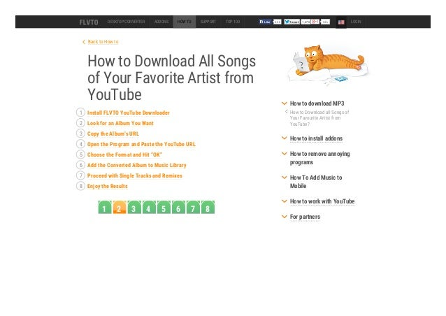 How to Download All Songs of Your Favorite Artist from