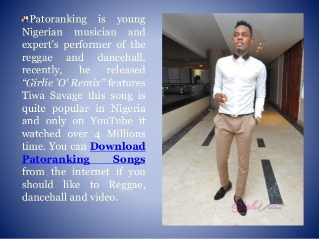 Download songs of patoranking a young nigerian rising reggae
