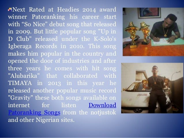 Download songs of patoranking a young nigerian rising reggae artist
