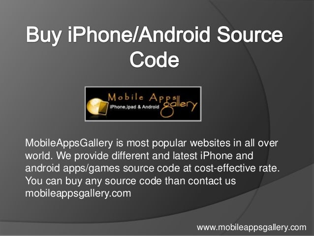 MobileAppsGallery is most popular websites in all overworld. We provide different and latest iPhone andandroid apps/games ...
