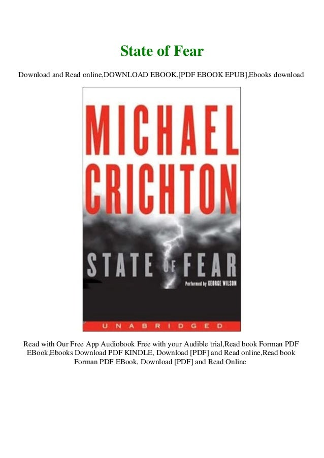 Download State Of Fear By Michael Crichton