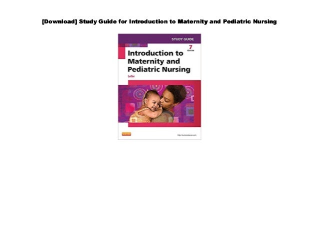 PDF~] Study Guide for Introduction to Maternity and