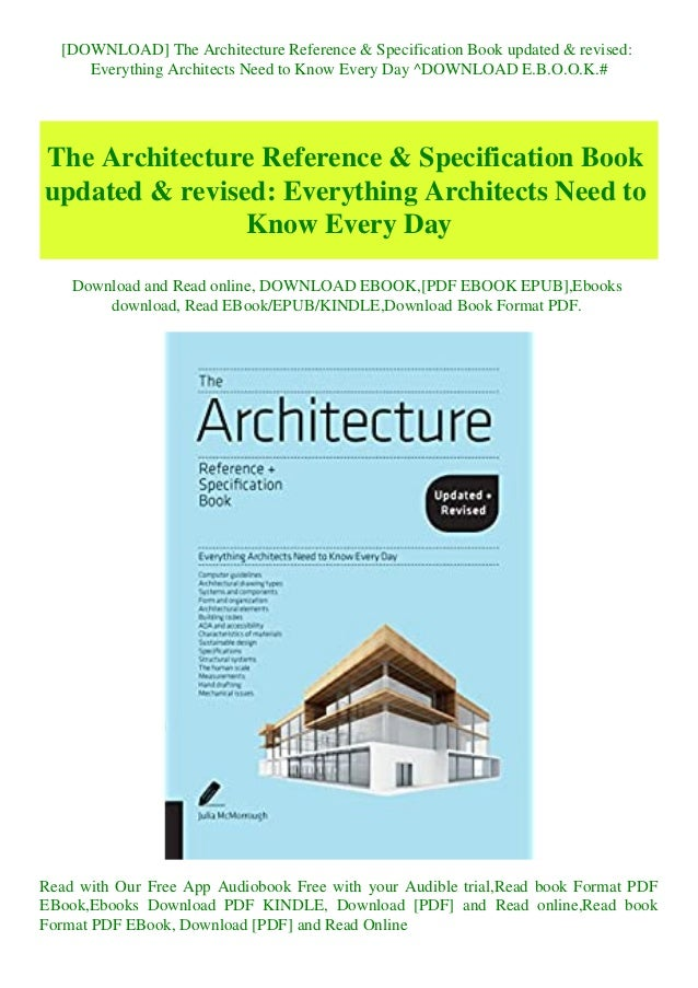 Download The Architecture Reference Specification Book Updated