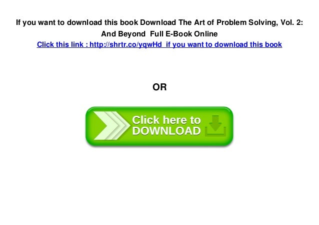 Download The Art of Problem Solving, Vol  2: And Beyond Full