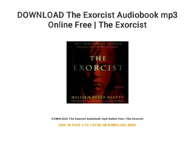 Download the exorcist audiobook mp3 online free | the exorcist.