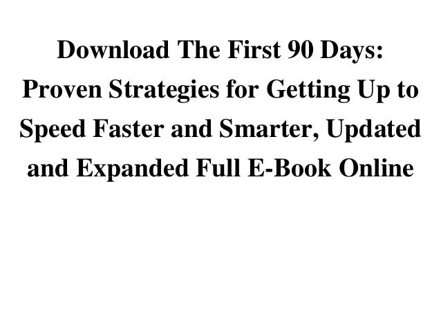 first 90 days book pdf