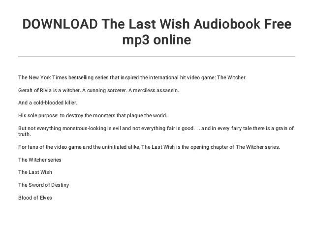 the witcher audiobook free