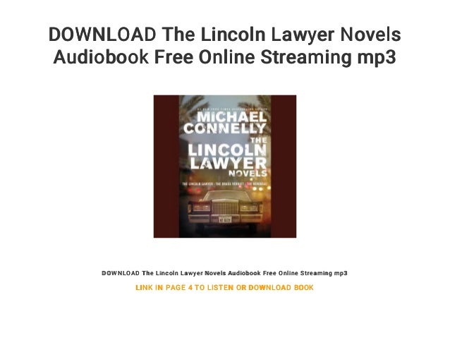 Download The Lincoln Lawyer Novels Audiobook Free Online