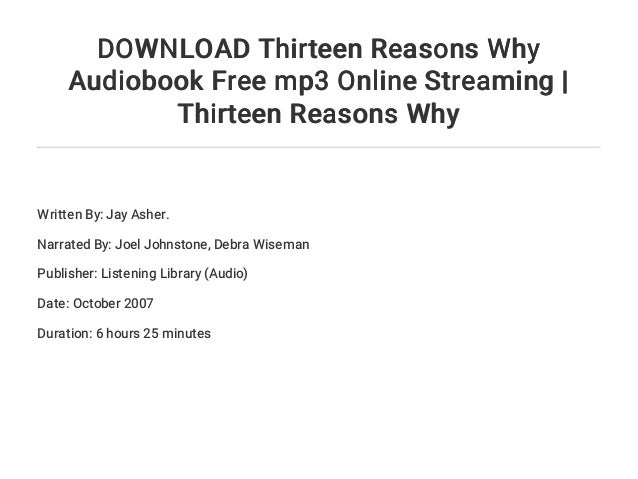 13 Reasons Why Online Stream