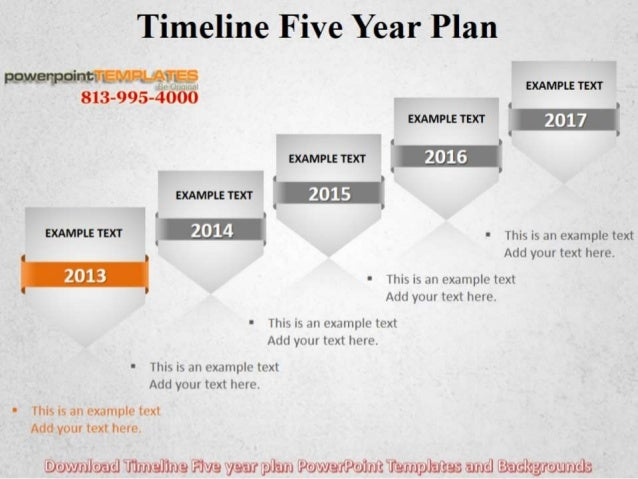 Timeline Five Year Plan Powerpoint Templates And Backgrounds - Powerpoint templates timeline
