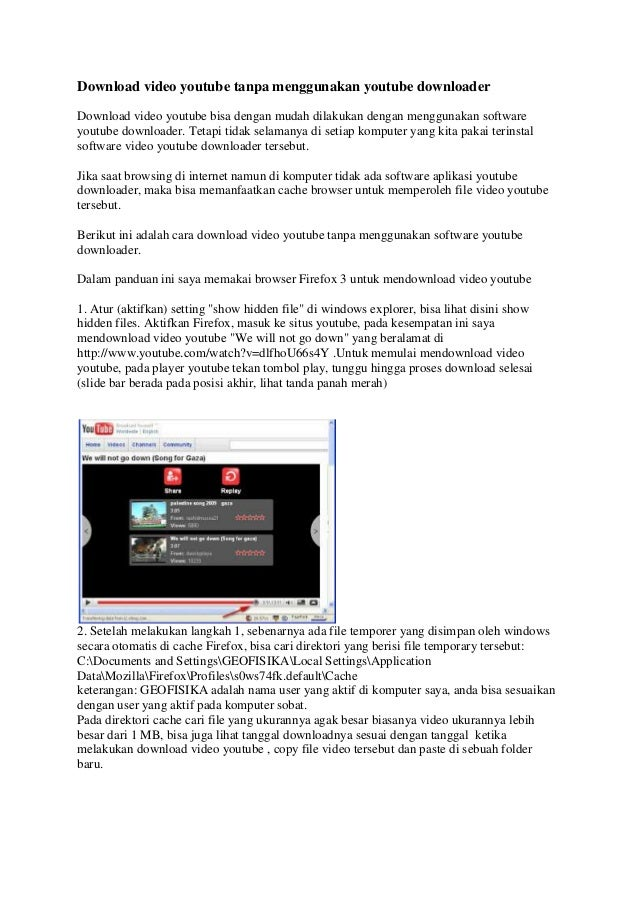 Download Video Youtube Tanpa Menggunakan Youtube Downloader