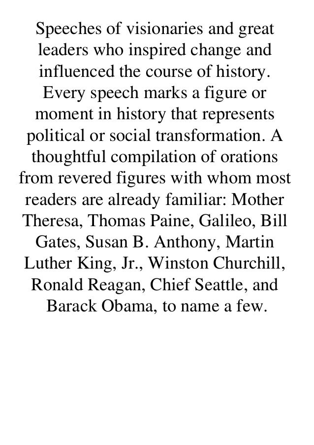 Download or read Voices of Radical Change: Greatest Speeches of Political and Social Transformation by click link below ht...