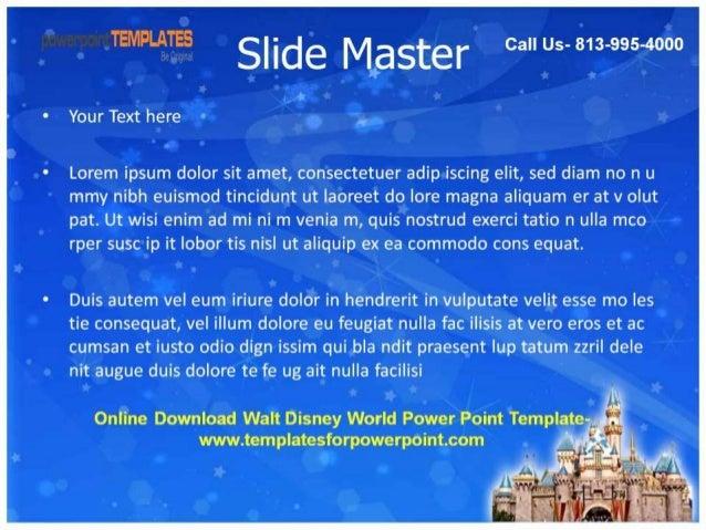 download walt disney world powerpoint template