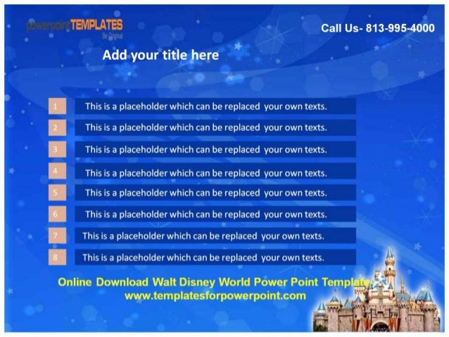 Download walt disney world powerpoint template tempiatesforpowerpoint com 4 toneelgroepblik Image collections