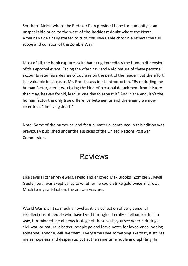 world war z read online free pdf