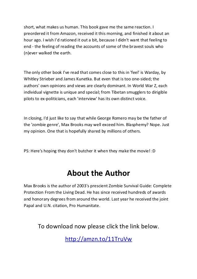 Download world war z pdf.