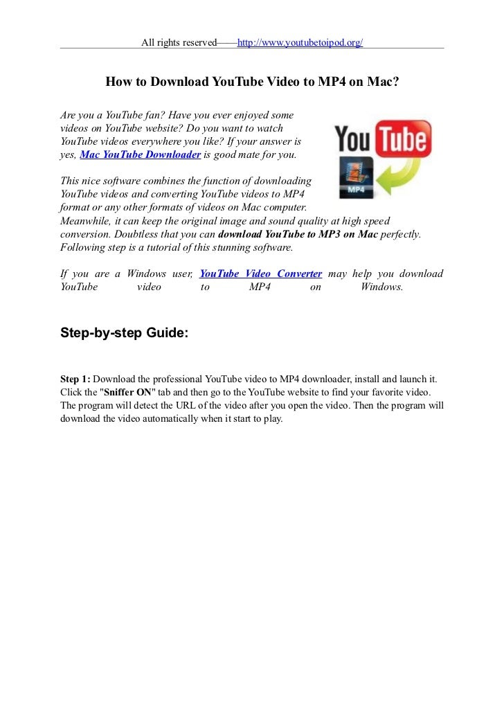 Download Youtube Video To Mp4 On Mac