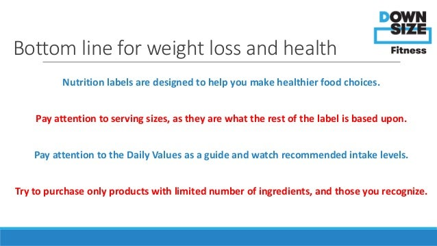 Nutrition Labels Explained: Weight Loss Tips from Downsize ...