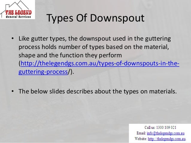 Downspouts Used In Gutter Replacement And Installation Service
