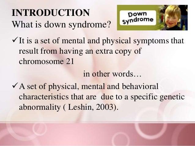 Down syndrome awareness  Slide 2