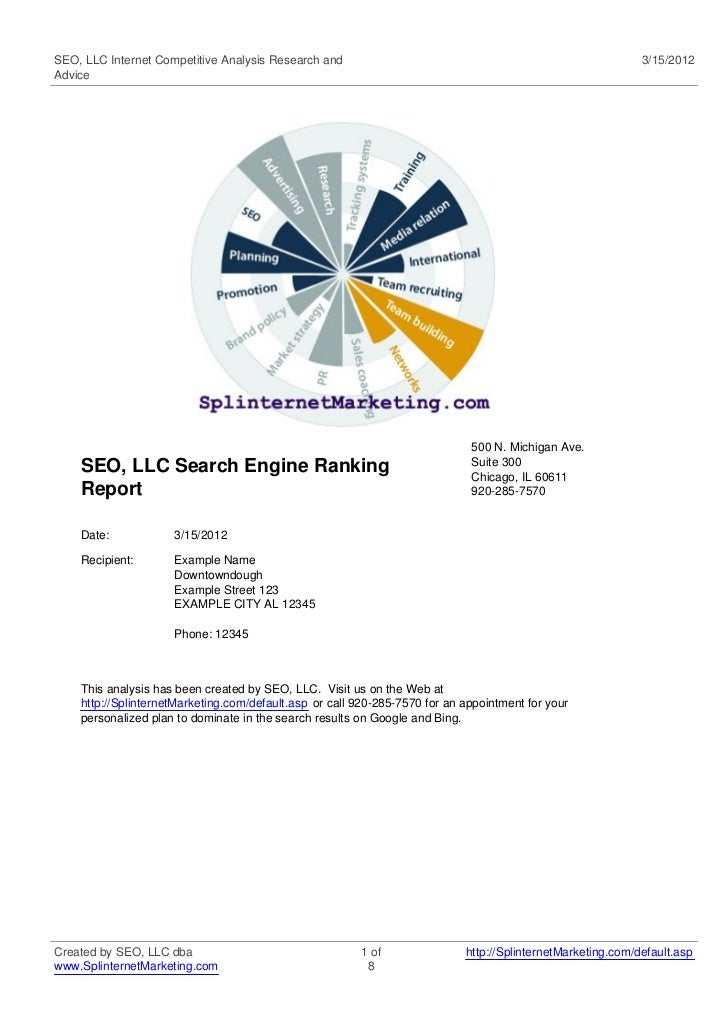 SEO, LLC Internet Competitive Analysis Research and                                                          3/15/2012Advi...
