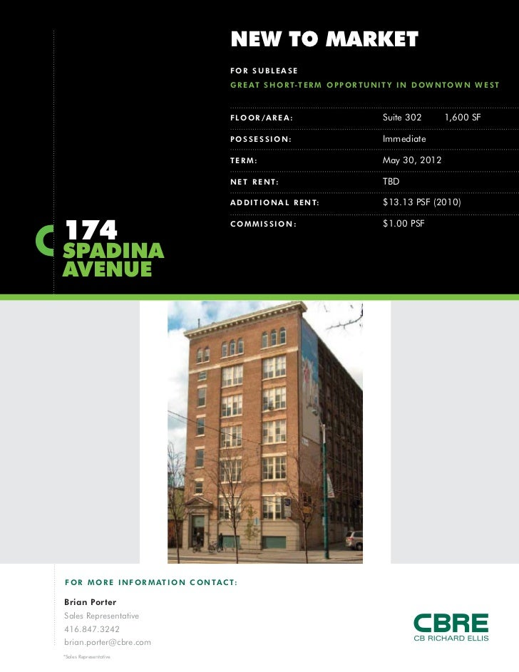 NEW TO MARKET                                              FOR SUBLEASE                                              G R E...