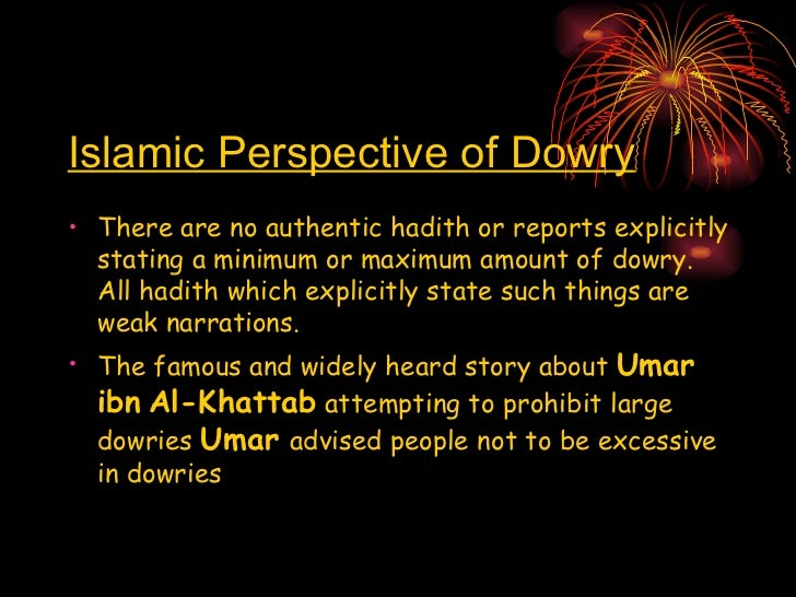 importance of dowry in islam