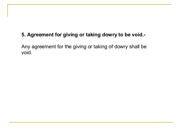 sentence for dowry