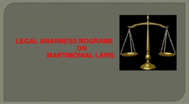 LEGAL AWARNESS ROGRAME ON MARTIMONIAL LAWS