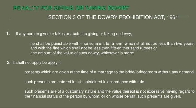 Dowry Prohibition Act 1961 Pdf