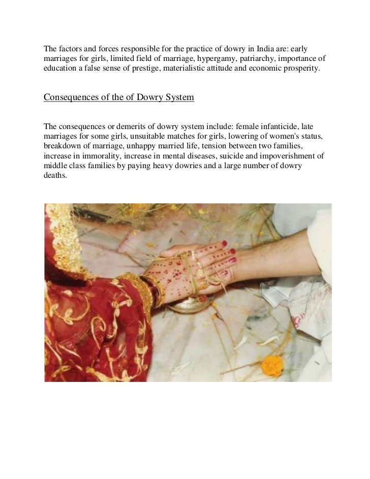 essays on evils of dowry system
