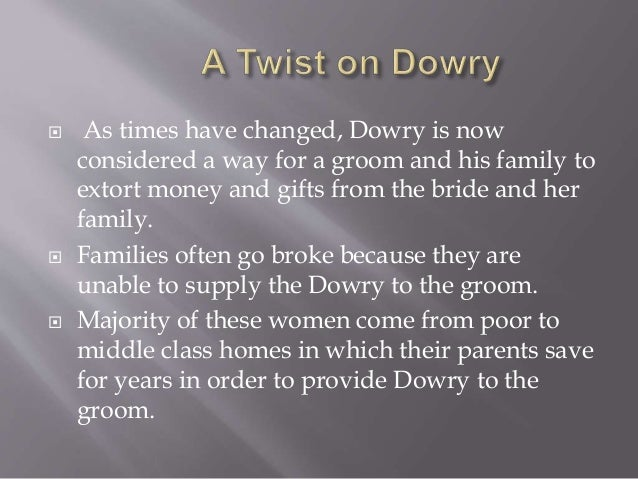 dowry system in india ppt