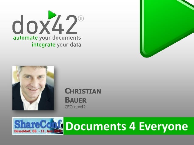 CHRISTIAN BAUER CEO DOX42