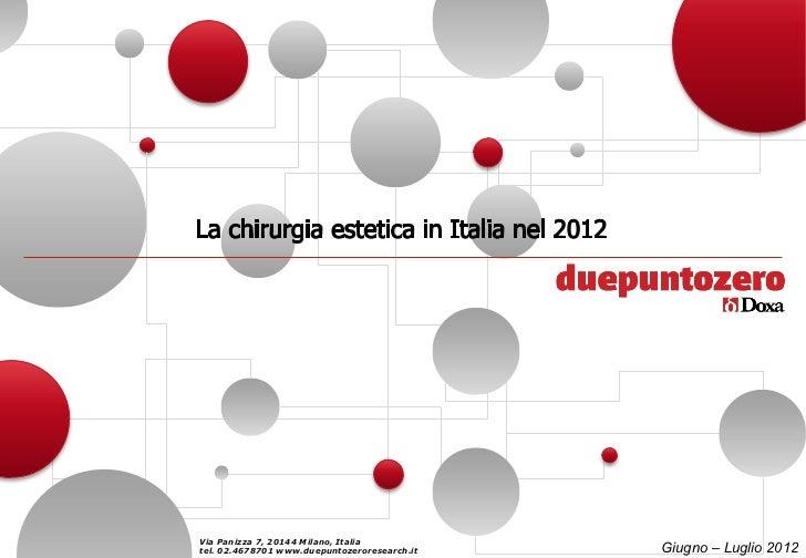 Via Panizza 7, 20144 Milano, Italiatel. 02.4678701 www.duepuntozeroresearch.it   Giugno – Luglio 2012