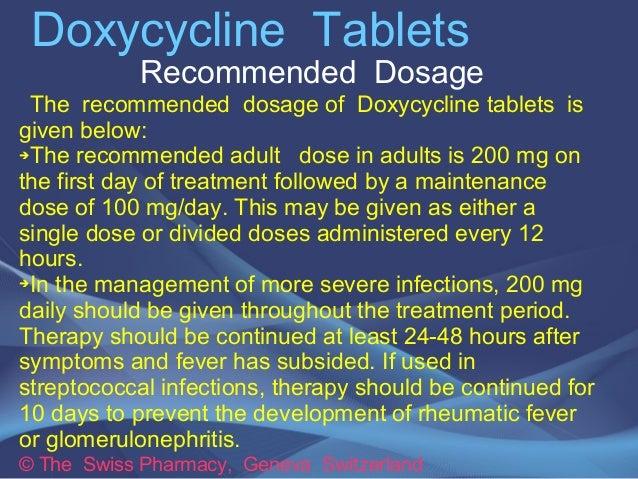 doxycycline acne dosage