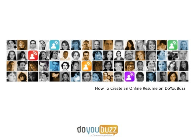 create an online resume with doyoubuzz