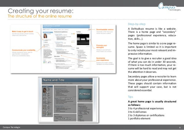 creating online resume