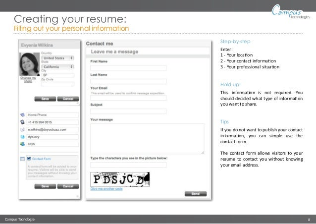 8. Campus Tecnologie 8 Technologies Creating Your Resume: ...