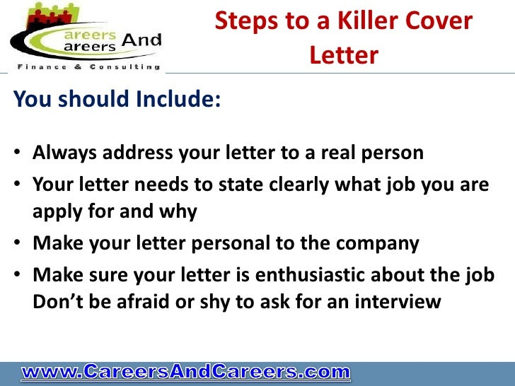 Do you have a killer cv for Should you always include a cover letter