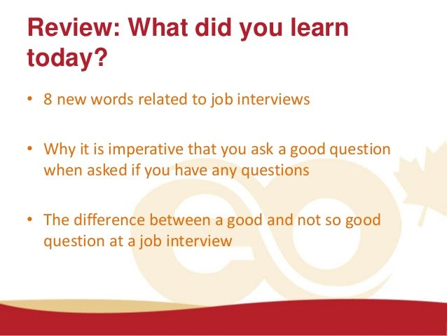 do you have any questions for me activity 7 37 - Do You Have Any Questions For Me Interview Question And Answers