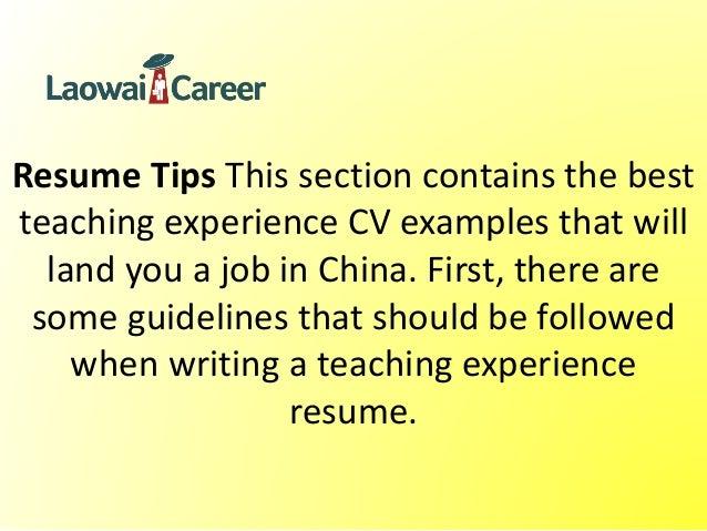 sample resume for korean english teacher inpieq - Example Resume For English Teacher In China