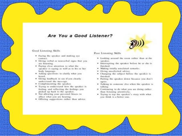 A Good listener