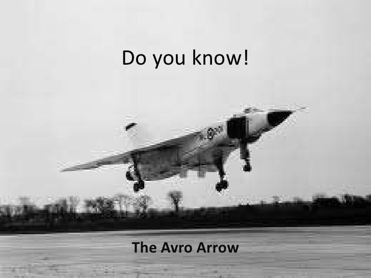 Do you know!The Avro Arrow