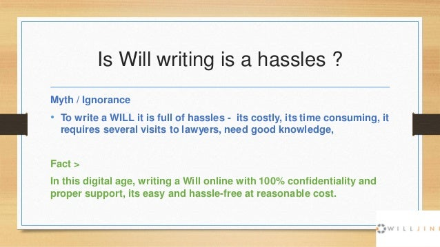 myths ignorance around will subject in  9 is will writing